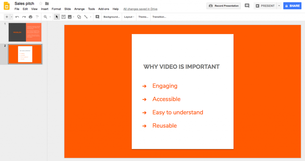 Google slides(share) - videos in digital marketing agencies