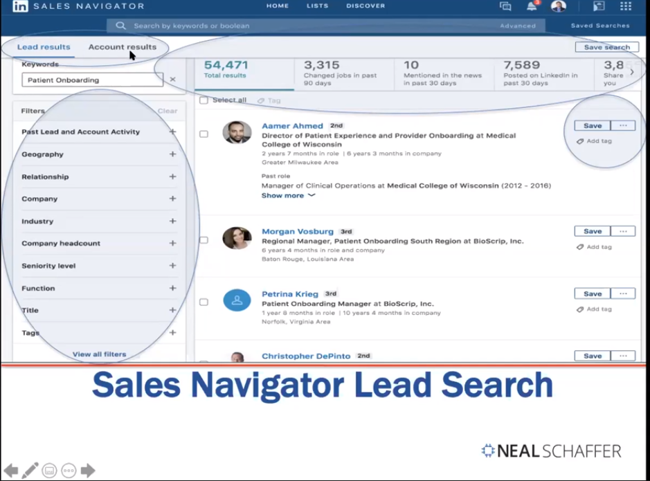 Sales Navigator Lead Search