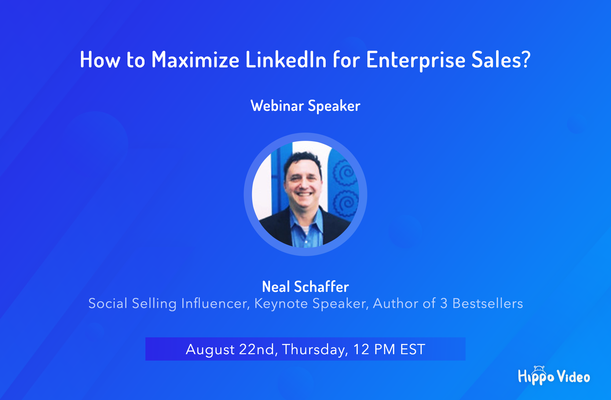 Neal Schaffer Webinar - LinkedIn for enterpise sales