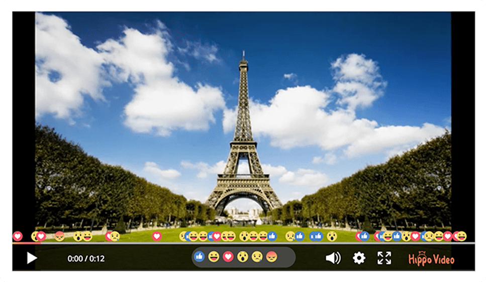 React to videos with emojis
