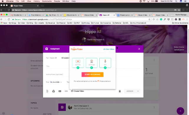 Hippo Video Integrates With Google Classroom