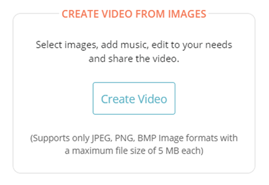 Create video through images
